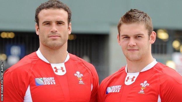 Jamie Roberts and Dan Lydiate