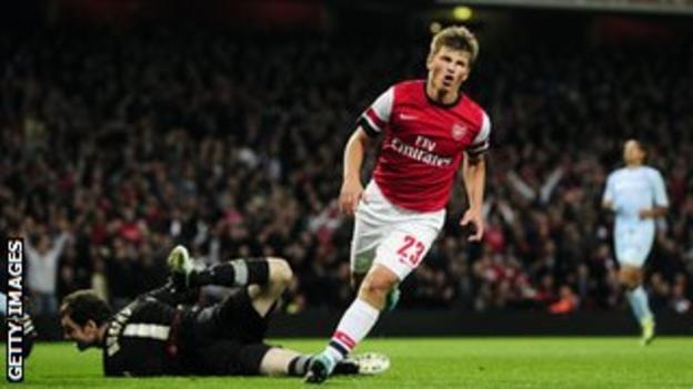Arsenal forward Andrey Arshavin