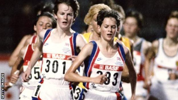 Zola Budd (centre), from apartheid-era South Afruca, was given a controversial British passport.