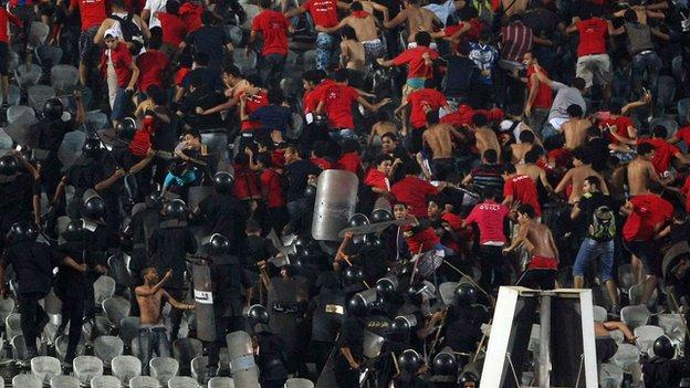 Problems at an Egyptian football match in 2011