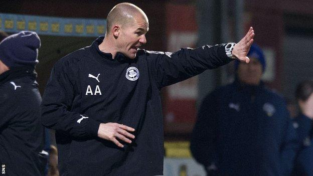 Partick Thistle player-manager Alan Archibald