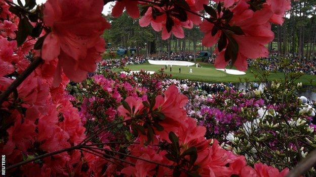 Flowers at the Masters