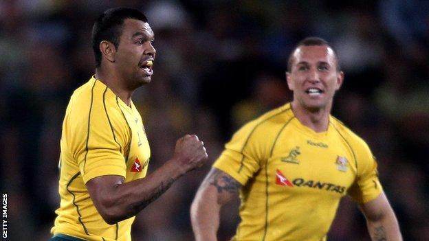 Kurtley Beale (left) and Quade Cooper (right)