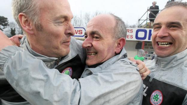 Tommy Breslin guided Cliftonville to the Premiership title