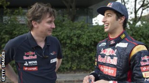 Toro Rosso's Daniel Ricciardo