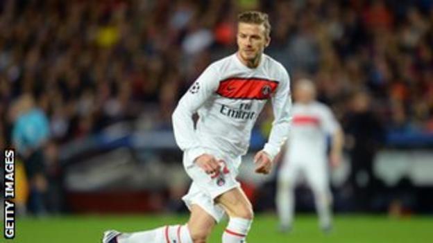 Paris St-Germain midfielder David Beckham