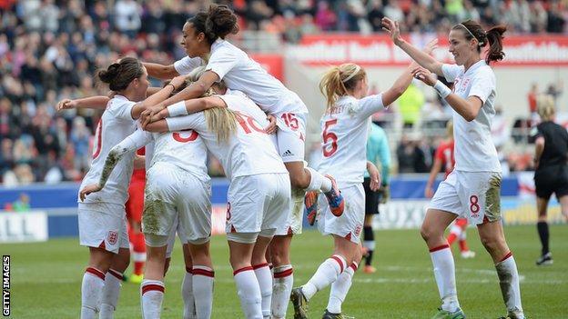 England women's football team