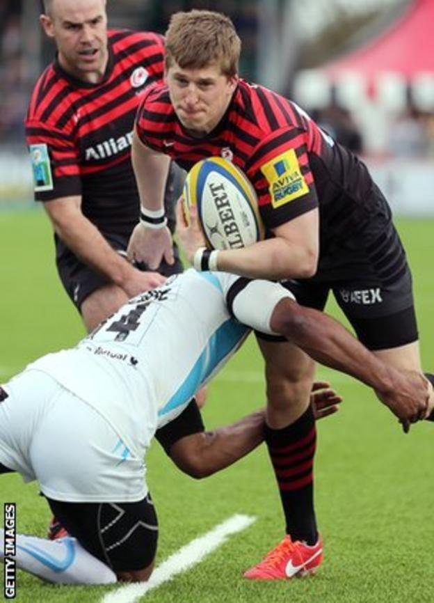 David Strettle in action against Worcester on Sunday