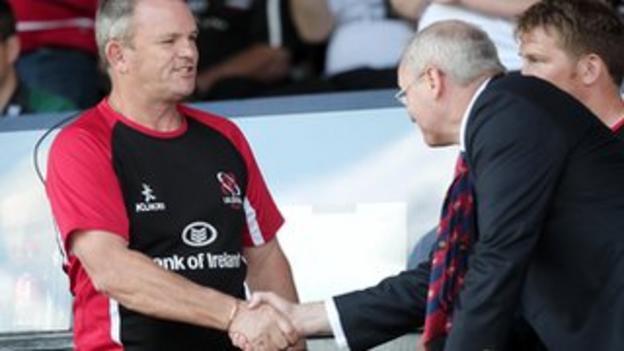 Ulster chief executive Shane Logan and head coach Mark Anscombe