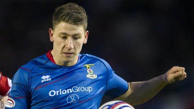 Inverness CT defender Josh Meekings