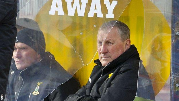 Inverness CT manager Terry Butcher at Dens Park