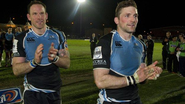 Graeme Morrison and John Barclay will be leaving Glasgow in the summer