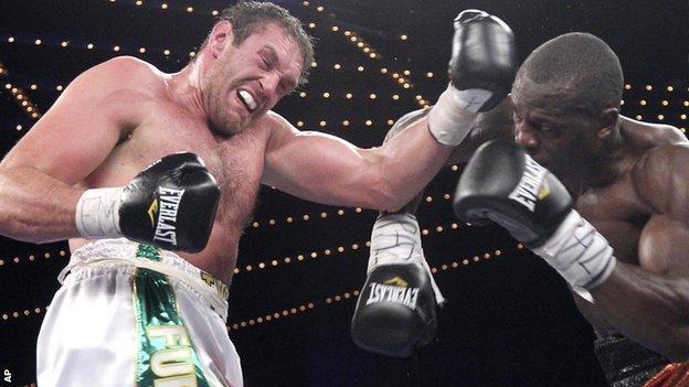 Tyson Fury fights Steve Cunningham