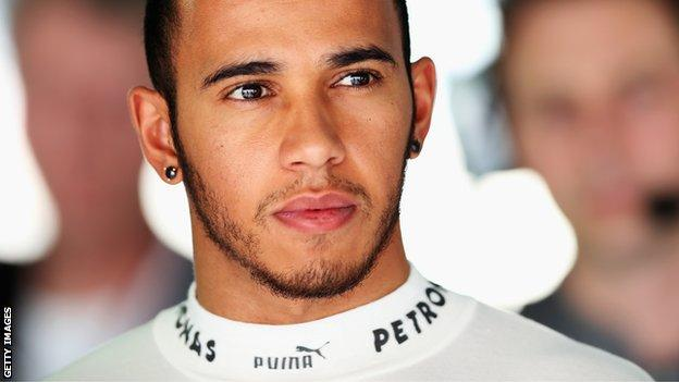 Maercedes's Lewis Hamilton