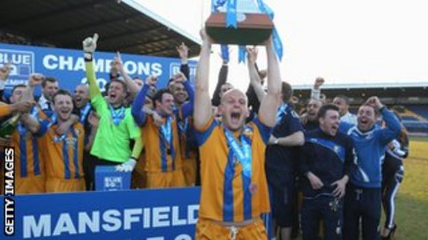 Mansfield celebrate promotion