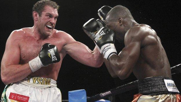 Tyson Fury fights Steve Cunningham