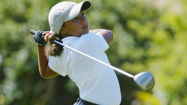 Golfer Cheyenne Woods