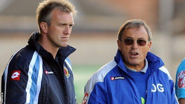 Steve Davis and Dario Gradi
