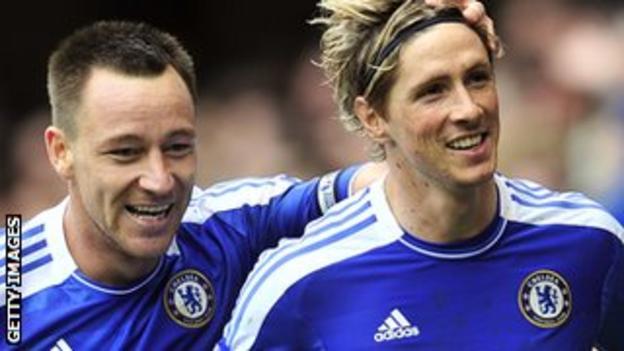 John Terry and Fernando Torres