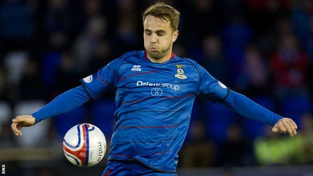 Inverness Caledonian Thistle midfielder Andrew Shinnie