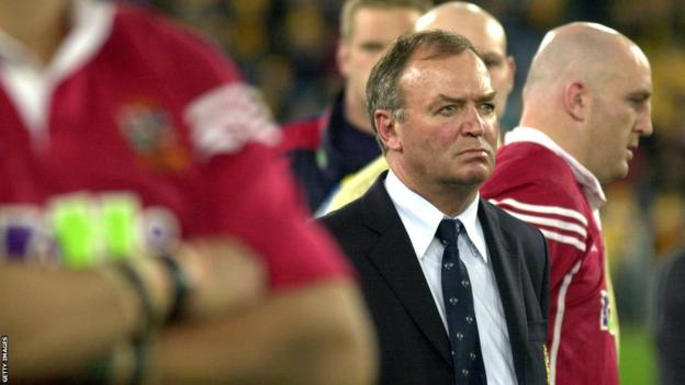 Lions boss Graham Henry looks on in Sydney after the third-Test defeat by Australia
