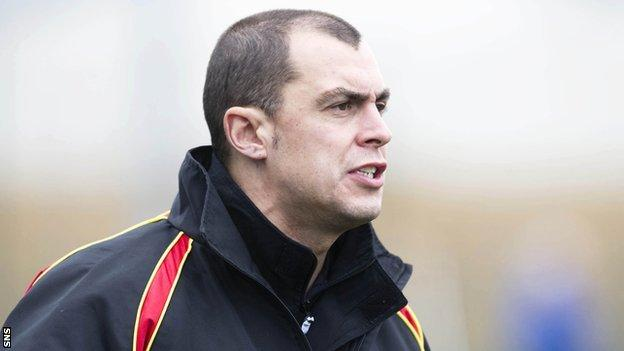 Former Albion Rovers manager Todd Lumsden