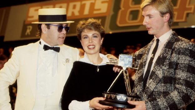 Elton John, Jayne Torvill and Christopher Dean