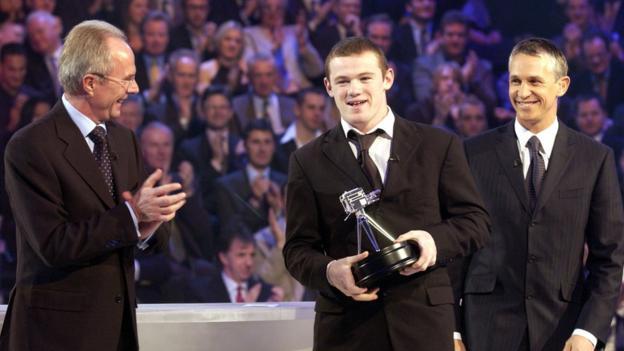 Sven-Goran Eriksson, Wayne Rooney and Gary Lineker