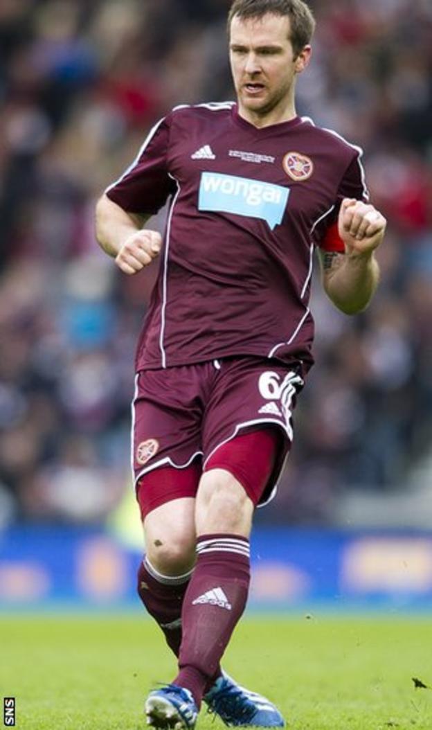 Hearts defender Andy Webster