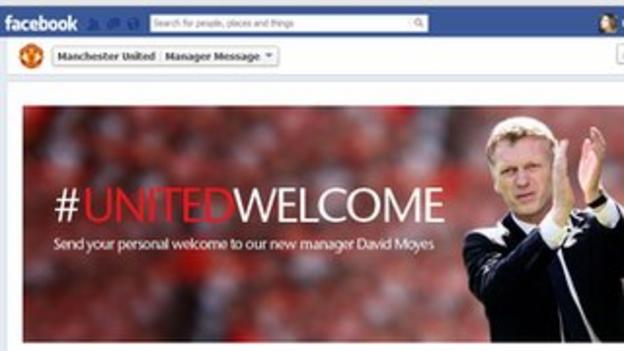 The message posted on Man Utd's Facebook page on Thursday afternoon