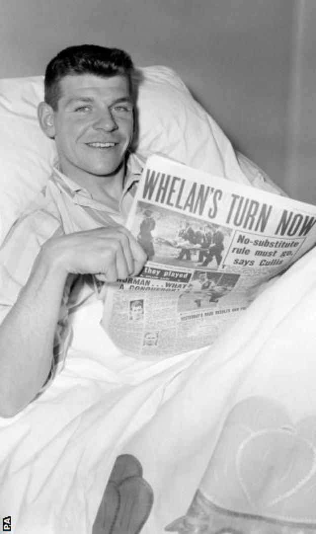 In his hospital bed the day after the Cup final