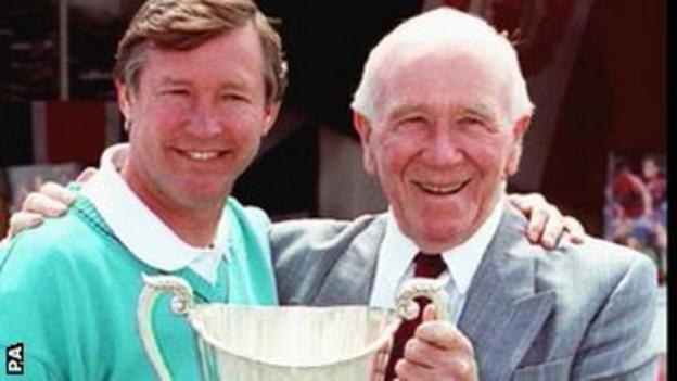 Sir Alex Ferguson and Matt Busby