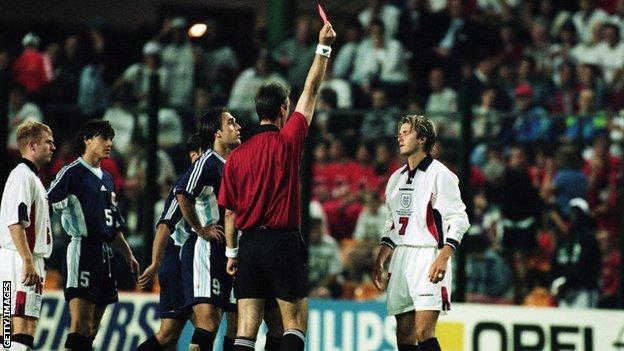 David Beckham v Argentina 1998