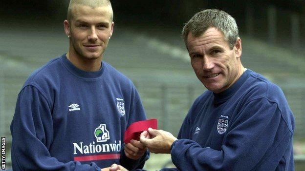 David Beckham England captain