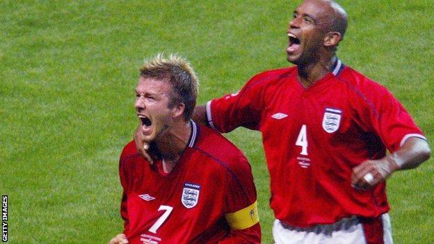 David Beckham v Argentina 2002
