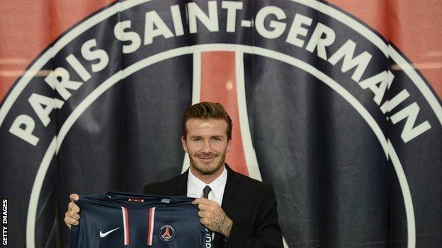 David Beckham joins Paris St-Germain