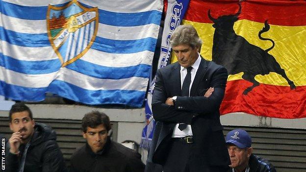 Malaga manager Manuel Pellegrini