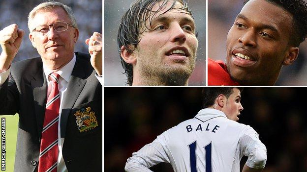Sir Alex Ferguson, Michu, Daniel Sturridge, Gareth Bale