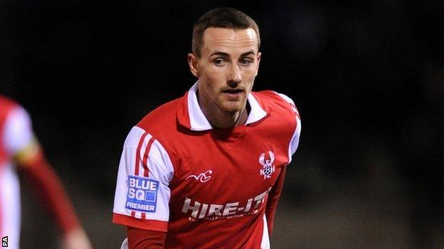 Kidderminster Harriers midfielder James Vincent