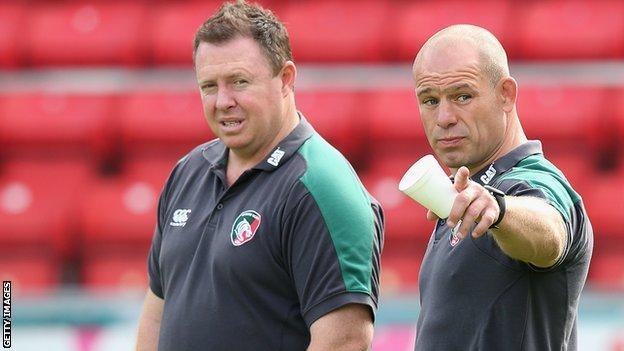 Matt O'Connor and Richard Cockerill (right)