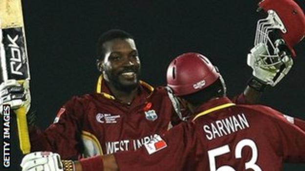 Chris Gayle and Ramnaresh Sarwan