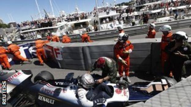 Pastor Maldonado at the Monaco GP 2013