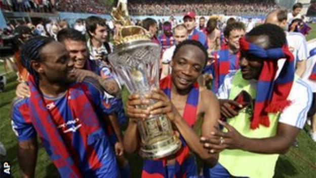 CSKA Moscow celebrate