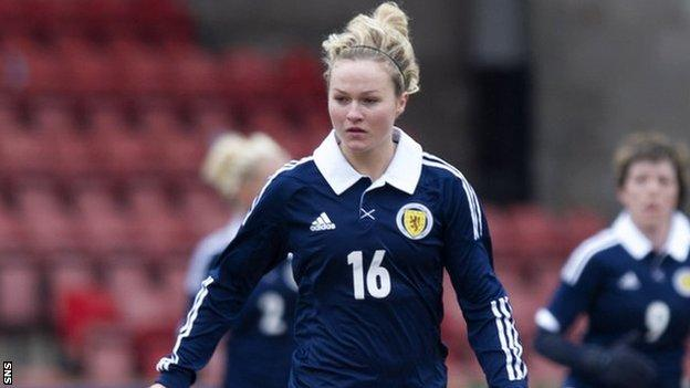 Emily Thomson scored for Scotland