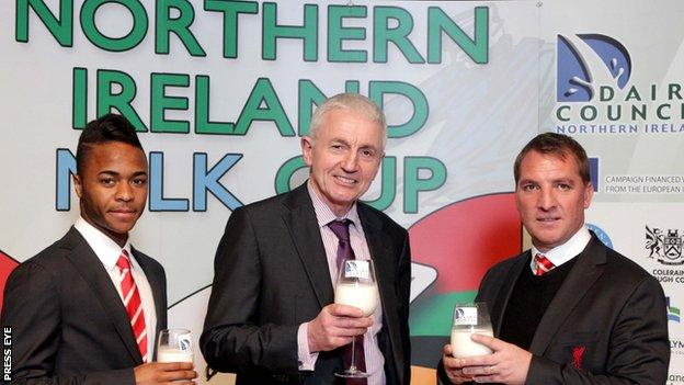 Brendan Rodgers at Milk Cup launch