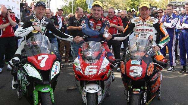 Gary Johnson, Michael Dunlop and John McGuinness
