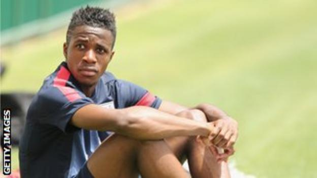 Wilfried Zaha has won seven caps for the England Under-21 team, scoring one goal