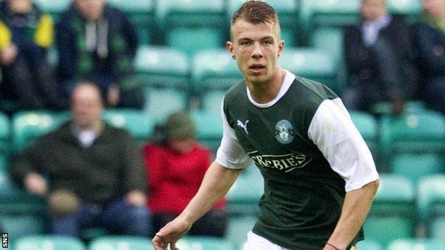Hibernian defender Jordon Forster