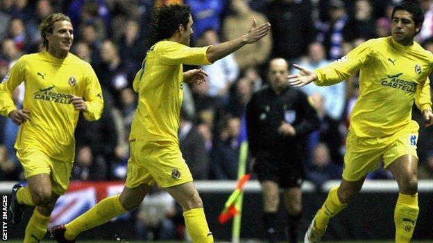 Villarreal celebrate