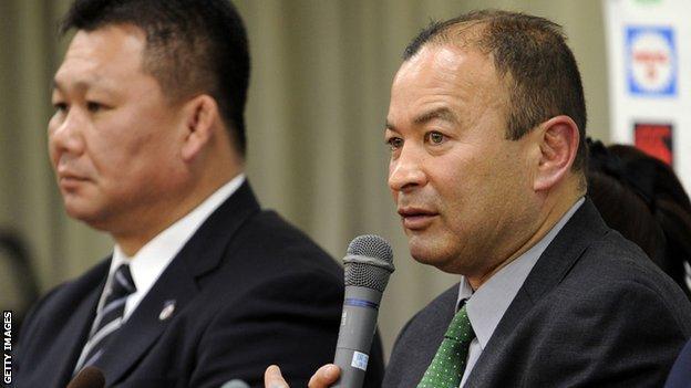 Japan head coach Eddie Jones